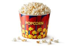 Grande benna di popcorn Immagini Stock