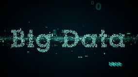 Grande blu di dati di parole chiavi binarie illustrazione di stock