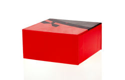 Grande boîte rouge Photo stock