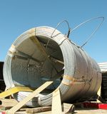 Grande bobine de fil en métal Images stock