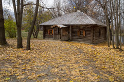 Grande Boldino Banho de madeira na reserva Pushkin do museu Fotos de Stock Royalty Free