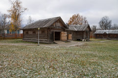 Grande Boldino Casa de transporte com os estábulos na reserva Pushkin do museu Fotografia de Stock