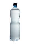 Grande bottiglia di acqua isolata su una priorità bassa bianca Fotografia Stock