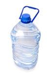 Grande bottiglia di acqua minerale isolata fotografia stock