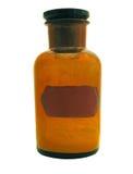 Grande bottiglia di vetro antichissima illustrazione di stock