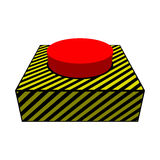 Grande bottone rosso royalty illustrazione gratis