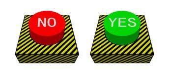 Grande bottone rosso e verde Royalty Illustrazione gratis