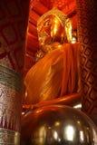 Grande Bouddha statue d'Ayutthaya Photographie stock libre de droits