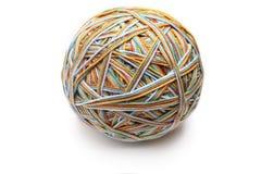 Grande boule colorée de fil de fil de quatre couleurs Images libres de droits
