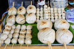 Grande boule de viande thaïlandaise au marché Photographie stock libre de droits