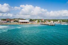 Grande Bourg porto di Marie Galante fotografia stock libera da diritti