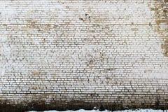 Grande brique sale avec des égouttements image libre de droits