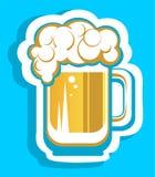 Grande brocca della birra Fotografia Stock Libera da Diritti