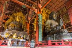 A grande Buda no templo de Todai-ji em Nara, Japão Fotos de Stock Royalty Free