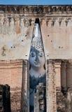 Grande Buddha alla provincia di Sukhothai del tempiale di Srichum, Fotografia Stock