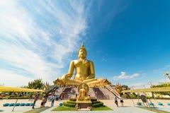 Grande Buddha della statua della Tailandia Fotografia Stock Libera da Diritti