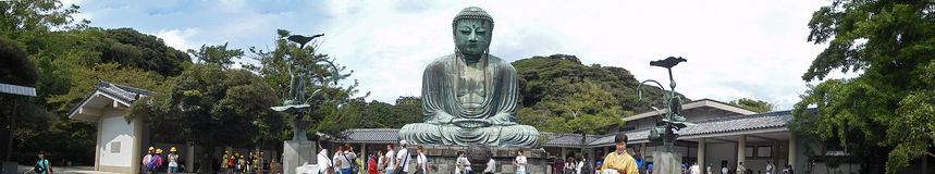 Grande Buddha, Kamakura, Giappone Fotografie Stock