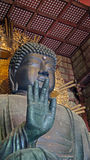 Grande Buddha in tempio di Todaiji a Nara, Giappone Fotografia Stock