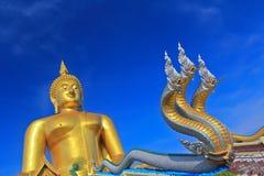 Grande Buddha a Wat Muang, Tailandia Fotografia Stock Libera da Diritti