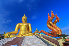 Grande Buddha a Wat Muang, Tailandia Immagini Stock