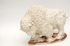 Grande Buffalo bianca Fotografie Stock Libere da Diritti