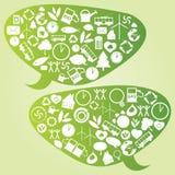 Grande bulle de pensée d'Eco Photos libres de droits