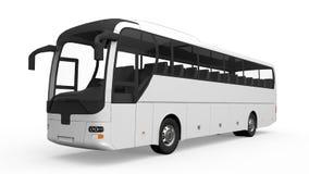 Grande bus di giro bianco illustrazione di stock