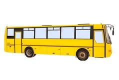Grande bus giallo Fotografie Stock