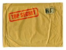 Grande busta marrone con il bollo top-secret Fotografia Stock Libera da Diritti