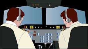 Grande cabina di pilotaggio di aerei Fotografia Stock