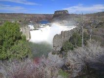 Grande cachoeira no Estados Unidos ocidental imagens de stock