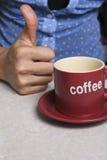 Grande caffè Fotografia Stock