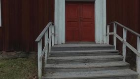 Grande Camera rossa di legno archivi video