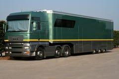 Grande caminhão verde da sustentação fotos de stock