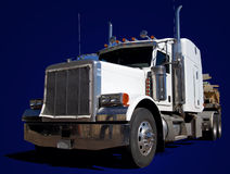 Grande camion bianco sull'azzurro immagine stock