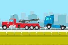 Grande camion di rimorchio Fotografia Stock