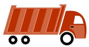 Grande camion rosso Fotografia Stock Libera da Diritti