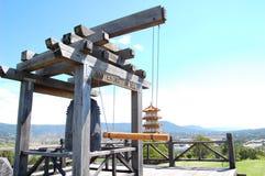 Grande campana in tempio cinese Fotografie Stock