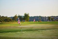 Grande campo del golfe nel Portogallo Immagine Stock Libera da Diritti