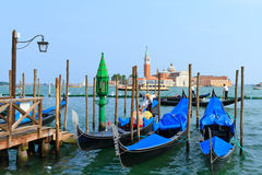 Grande canal and gondolas  in Venice. Royalty Free Stock Photography