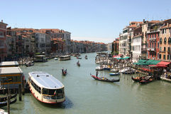 Grande Canal in Venice, Italy. View from Rialto Bridge over the Grande Canal in Venice, Italy stock photos