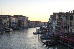 Grande canale al tramonto fotografia stock