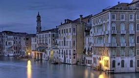 grande Canale błękitny godzina Venice Zdjęcie Royalty Free