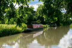 Grande canale del sindacato, Northamptonshire, Regno Unito Fotografia Stock