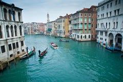 Grande canale di Venezia Fotografia Stock