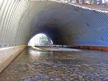 Grande canale sotterraneo Fotografia Stock
