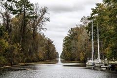 Grande canale triste della palude Fotografia Stock