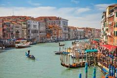 Grande canale a Venezia Fotografia Stock Libera da Diritti