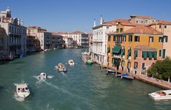 Grande canale a Venezia Immagini Stock Libere da Diritti