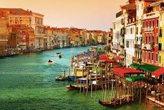 Grande canale a Venezia, Italia Fotografia Stock